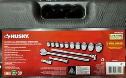 Husky H34d14sws 14-piece 3/4 Drive Socket Wrench Set Brand New Free Shipping