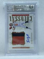 2018 Panini National Treasures Colossal Baker Mayfield Rpa /25 Bgs 8.5 Nm-mt+