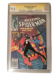 Amazing Spider Man 252 CGC SS 9.2 signed Stan Lee Newsstand First Black Costume