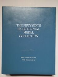 1976 Franklin Mint Fifty State Bicentennial Silver Medals Collection 52 Oz