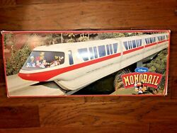 Walt Disney World Red Monorail Playset With Monorail Track In Box Tested