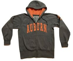 Auburn Univeristy Tigers Colosseum Zip Up Hoodie Size Medium Spell Out War Ea
