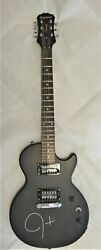 Les Paul Epiphone Special – Le Black Electric Guitar Signed By Justin Timberlake
