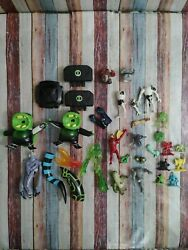 Large Lot Bandai Ben 10 Alien Creation Chamber Mini Figures Parts And Pieces
