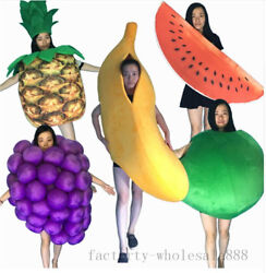 2020 Fruits Festival Party Mascot Costume Party Game Fancy Dress Adults Size New