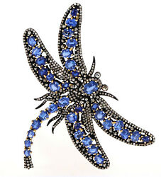 Dragonfly Vintage Replica Brooch Cum Pendant Set With Kynite And Diamond.