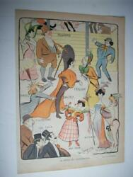 1905 Folies Bergere Paris With Isola Brothers Fragson - Colour Print 0
