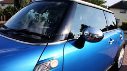 Mk2 Mini Cooper/s/one/clubman R56 Chrome Wing Mirror Cap Covers For Manual Fold