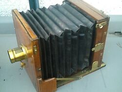 Antique Wooden Plate Camera Large