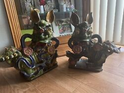 Foo Dogs Chinese Lions Porcelin