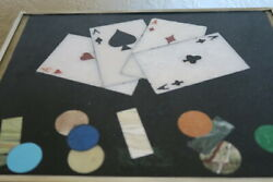 Pietra Dura Games Box With Counters And Amber Dice