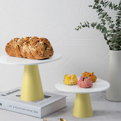 2x Metal Cake Stand Holder 10inch Round Cupcake Display Plate Rack Wedding Party