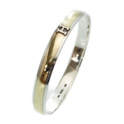 Hermes K18yg Silver Combination Bangle Vintage Accessory 0059 Women And039s