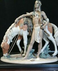 Lladro Indian Brave 3562 Limited Edition 123 Signed American West Collection