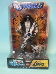Dc Universe Classics Lobo And Dawg Sdcc Excl. Action Figure Signed Four Horsemen