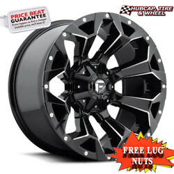 Fuel Off-road D576 20x10 5x4.5/5.0 Offset -18mm Gloss Black Milled Set Of 4