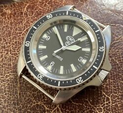Cwc Royal Navy/marines Issued Dive Watch 2000 New Battery And Strap