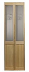 Ltl Home Products 864720 Pantry Half Glass Bifold Interior Wood Door 24 Inches