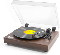 Retro Record Player For 33/45/78 Rpm Vinyl Records,bluetooth Belt-drive With