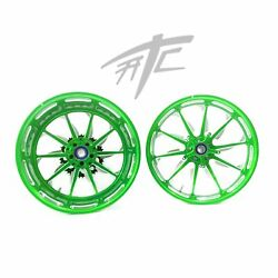 Yzf Stock Size Lime Green Contrast Cut Launch Wheels 2009-2014 Yamaha Yzf R1