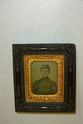Civil War Confederate Soldier 1/9 Ambrotype- Hanging Wall Frame