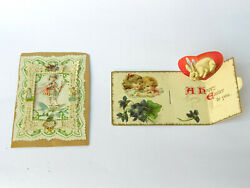 Antique Victorian Die Cut Easter Greeting Cards - Ep02