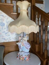 Antique Figurine Campodimonte Lamps Made In Italy