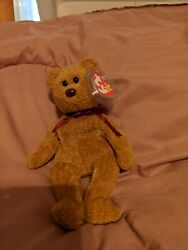 Rare Curly Ty Beanie Baby Brown Nose Tush 102 Seal Mint Condition Tag Errors