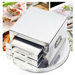 3tier Stainless Steel Steamer Drawer Food Steaming Tray Rice Noodle Roll Machine
