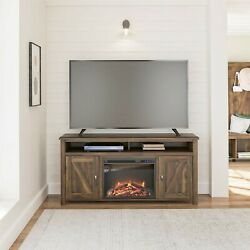 Farmhouse Electric Fireplace Tv Console For Tvs Up To 60 Entertainment Center