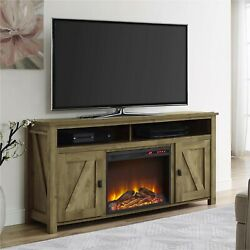 Farmhouse Electric Fireplace Tv Console Tvs To 60 Entertainment Center Natural
