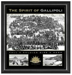 Anzac Spirit Of Gallipoli Official Licensed Limited Edition Framed Print Ww1