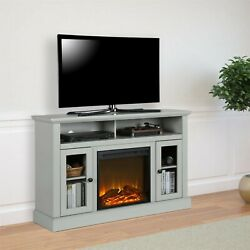 Electric Chicago Fireplace Dove Gray Tv Console Tvs To 50 Entertainment Center