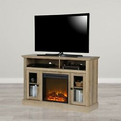 Electric Chicago Fireplace Oak Tv Console Tvs Up To 50 Entertainment Center