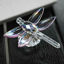 Crystal Dragonfly Figurine Glass Collectible Art Glass Animal Figurines Colle...