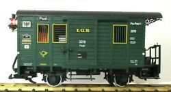 Lgb 3019 Postal Car W/ Lighting Lighted Markers And Metal Wheels