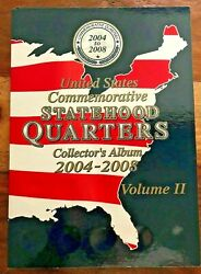 New W Coins United States Commemorative Statehood Quarters Collector's Album