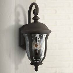 Traditional Outdoor Wall Light Fixture Bronze 22 1/4 For House Porch Patio Deck