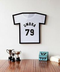 Black T-shirt Display Case Umbra T Frame Wall Mount Storage Collectible Jersey