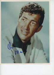 Dean Martin Signed 8x10 Color Photo Psa With Letter Ae08057 Blue Sharpie