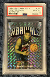 1997 Topps Finest Embossed Tracy Mcgrady Refractor 294 162/263 Rc Psa 10 Gem Mt