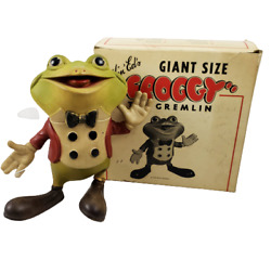 Vintage 1948 Froggy The Gremlin Rempel 9 Giant Size Rubber Squeak Toy W Box