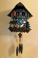 Vintage Lotscher Cuckoo Clock W/swiss Musical Movement Playing 2 Songs Mint