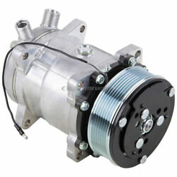 Oem Sanden Sd5h14 Ac Compressor And A/c Clutch 4514 W/ 7 Groove Pulley