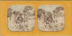 Italy Scene Of Genre Stereo France Diorama Tissue Stereoview Ca 1865