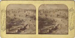 Bethany Beth-ananiah Israel Stereo Diorama Tissue Stereoview Vintage Albumin