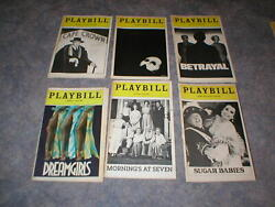 Playbill Magazine Lot-24 Different-broadway-all From 1980and039s-amadeus-les Mis