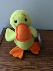 Ty Beanie Baby, 1994 Retired Quackers Mint Condition No Stamp In Tush Tag