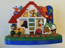 Rare Vintage Chicco Talking Farm Barn Bilingual Interactive Learning Toy Eng Spl