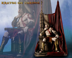 Kratos On Aries Throne God Of War 1/4 Scale Statue Gaming Heads
